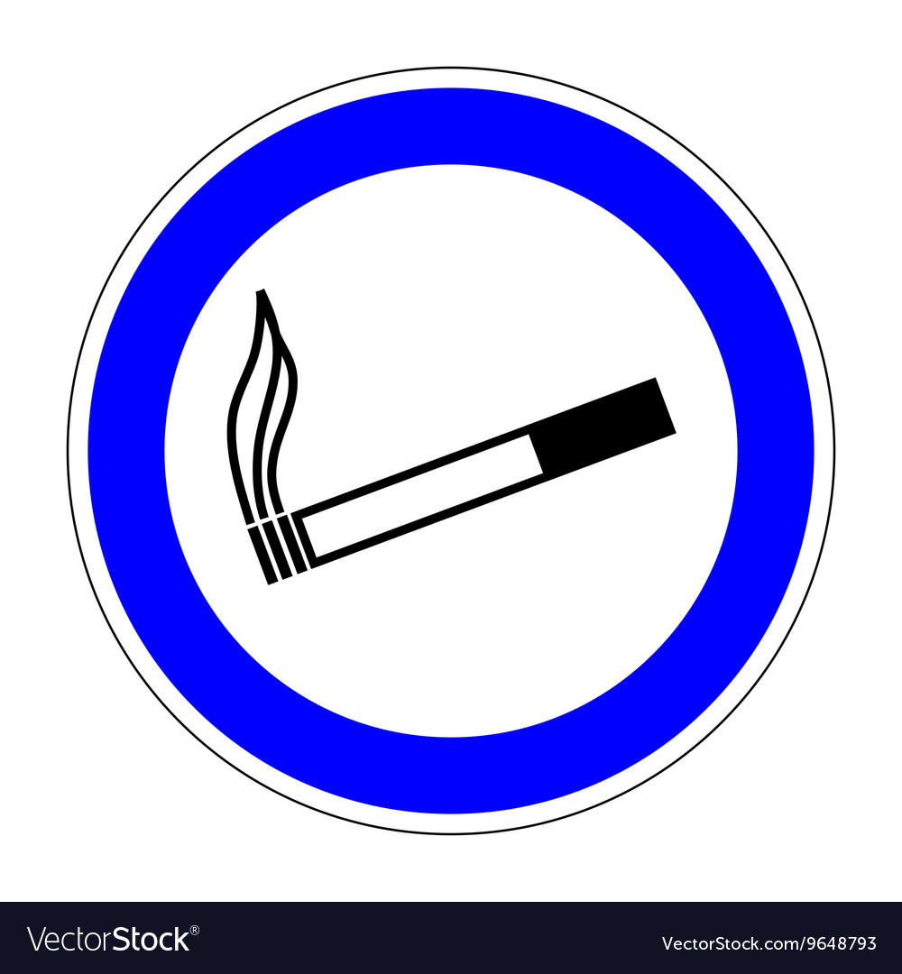 Sign place for smoking 1007 vector