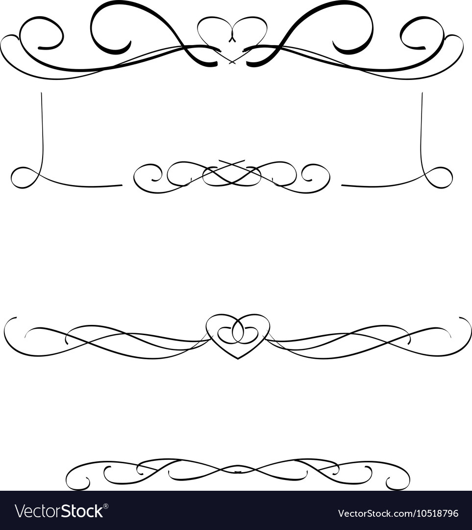 Calligraphic frames vector