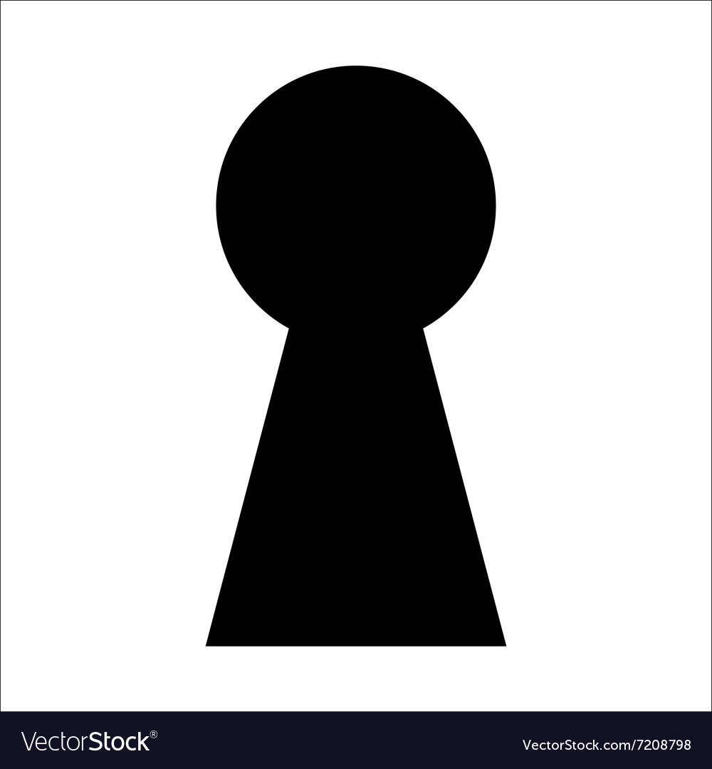Keyhole icon isolation vector