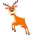 happy deer cartoon running vector image