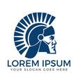 Spartan warrior logo design vector image