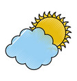 cluod with sun weather icon vector image vector image
