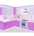 kitchen interior vector image vector image