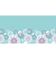 Purple and blue floral abstract horizontal vector image vector image