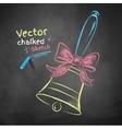 Color chalk drawn school bell vector image