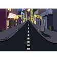Night cityscape comics vector image
