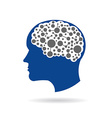 Brain networking vector image vector image