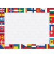 European countries flag icons frame vector image