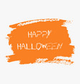 happy halloween hand paint orange watercolor vector image