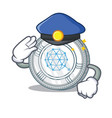 police qtum coin character cartoon vector image