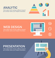 Set of Flat Design Concepts for Web Banners and vector image