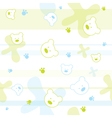 Cute Bears Children Wallpaper vector image vector image