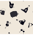 Seamless background with alcohol icons vector image
