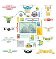 using drones group set vector image