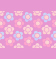 background with cute chamomile flowers vector image