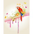 tropical summer background vector image vector image