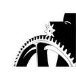 big cogwheel isolated on the white vector image vector image