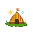 Camping Wigwam In Forest vector image