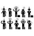 Businessman stress pressure business mental vector image