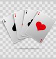 casino gambling poker blackjack - playing cards vector image