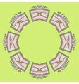 Circular ornament design vector image