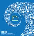 Folder sign symbol Nice set of beautiful icons vector image