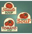 Tomato soup labels set vector image