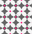 White geometrical ornament with white crosses and vector image