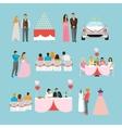 Wedding ceremony design isolated icons vector image