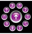 glossy buttons with symbols vector image vector image