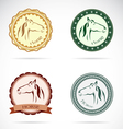 Horse labels vector image vector image
