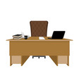 business office boss table leader supervisor vector image