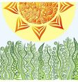 Nature pattern background with sun vector image