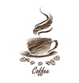 coffee cup15 vector image vector image