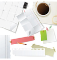 great office supplies and paper set vector image vector image