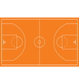basketball court vector image