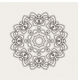 mandala Gothic lace tattoo Celtic weave vector image