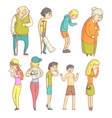 People With Different Illnesses vector image