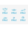 Abstract Birds Signs - icons set vector image