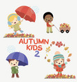 autumn kids activities vector image