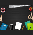 business office and workspace vector image