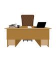 business office boss table leader supervisor vector image