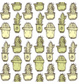 cactus hand drawn outline vector image
