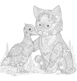 Cat and duck vector image