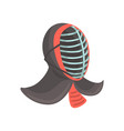 japanese fencing mask to practice kendo japanese vector image
