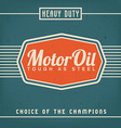 Motor Oil Design vector image