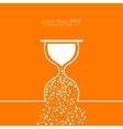 Stock Linear icon hourglass vector image