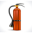 Vintage Fire Extinguisher vector image vector image