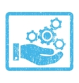 Mechanics Service Icon Rubber Stamp vector image