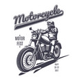 vintage moto fest logotype template vector image